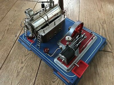 Wilesco D20 Steam Engine In Very Good Condition With Extras
