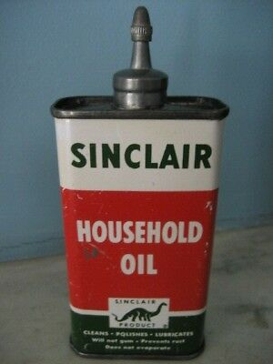 Vintage Advertising Lead Top Sinclair Household Oil Can USA