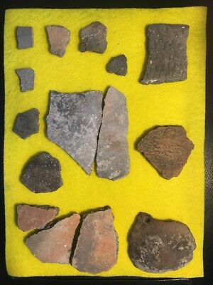 15 North Central Texas Indian Artifacts-Pottery Shards