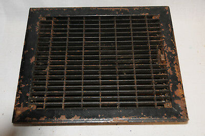Antique Steel Heat Grate Vent Register 12x10 Inside 13.5 X 11.5 Outside
