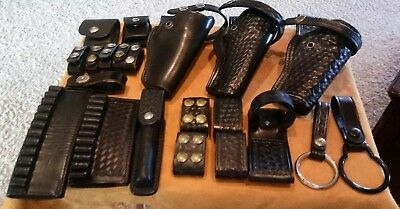 Large Lot Police Duty Holsters (S&w & Hume) Ammo Carry Keepers Baton Hold Look!!