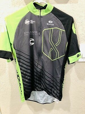 Cylance Pro Cycling Team Sugoi RS Jersey Men s Small Cannondale Green  Fabric WTB 286d446cc