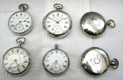 INTERESTING COLLECTION OF SILVER  HUNTER & OF POCKET WATCHES (PWbun3)