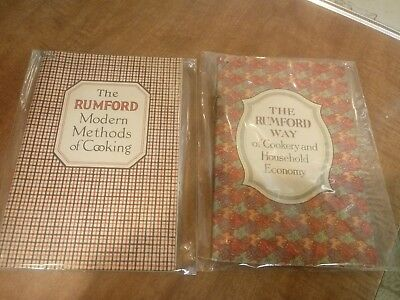 Lot of 2 Vintage recipe / cook books BY RUMFORD BAKING POWDER cooking household