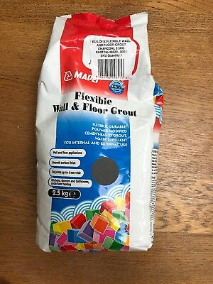 Flexible Wall & Floor Grout Charcoal 2.5kg