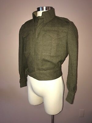 WW2 Canadian Battle Dress Blouse, Size 8, Dated 1945. Very Good Condition.