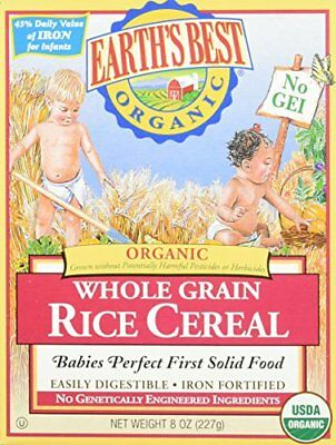 Earth's Best Baby Cereal - Rice - 8 Oz - 2 Pk