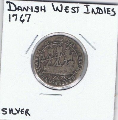 1767 Silver 12 Skilling Danish West Indies