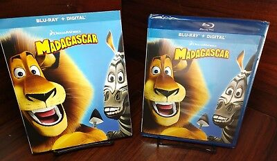 Madagascar (Blu-ray+HD Digital Code)Slipcover-Brand NEW-Free Shipping w/Tracking