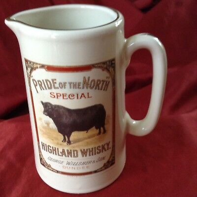 Vintage Pride of the North Whisky Water Jug