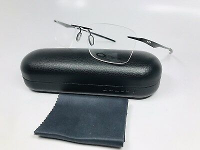 ✳ New Oakley OX5115-0253 Satin Black Titanium WINGFOLD  Eyeglasses 53mm w/Case