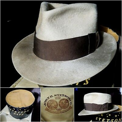 1900s 1920s Stetson expo medal vintage fedora 7 1/4