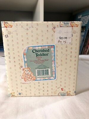 Cherished Teddies Rich Always Paws For Holiday Treats Christmas Figurine 1998
