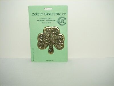 Celtic Brassware Solid Brass Door Plaque NIP New - One Thousand Welcomes