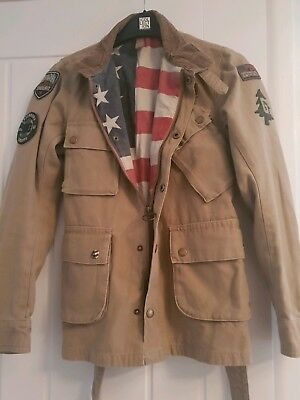 Barbour international Steve McQueen jacket hardly used rrp £200 boys age 10/11