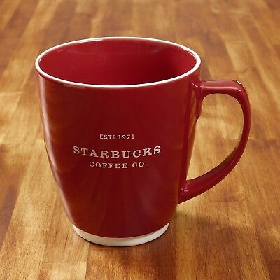 2007 Starbucks Coffee Mug Red 18 fl oz