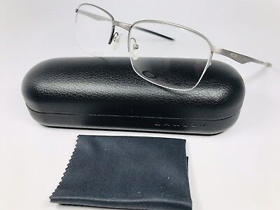✳ New Oakley OX5101-0355 Brushed Chrome WINGFOLD Eyeglasses 55mm with Case