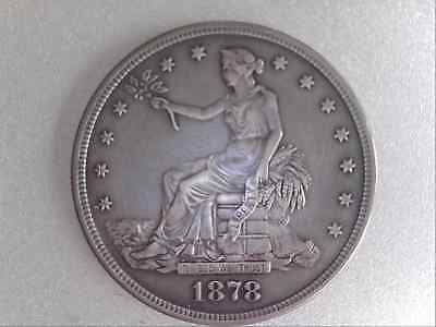 1878-S Trade Silver Dollar $1 in XF Condition