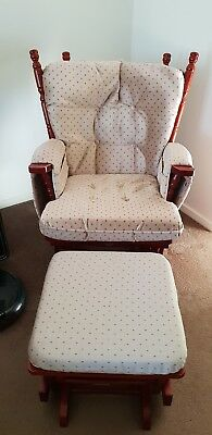 Swallow Nursing Rocking Chair With Footrest
