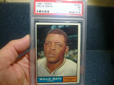 1961 Topps Willie Mays #150 PSA 5 EXCELLENT HOF San Francisco Giants
