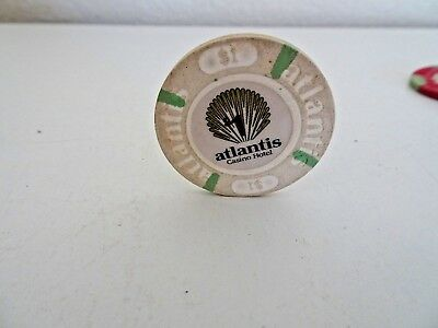 Atlantic City Atlantis Casino $1 chip white