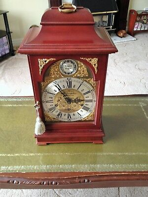 Bracket Clock, Large, Mahogany, EJ Goodfellow