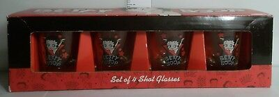 2009 BETTY BOOP SHOT GLASS, SET OF 4 1oz ITEM# 52188 NEW SET 2
