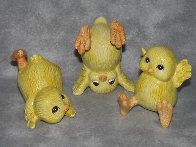 Fitz & Floyd Easter Tumbling Chicks Figurines