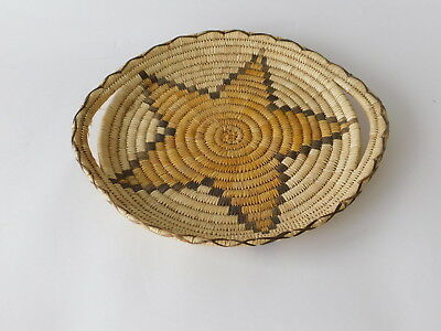 Tohono O'Odham or Papago Woven Wedding Tray Basket With Handles
