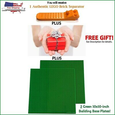 4 10x10 inch GREEN Comptible Base Plates 32 X 32 Dot LEGO Separator WITH BONUS