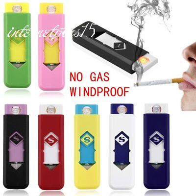 No Gas Windproof USB Lighter Rechargeable Electric Cigarette Flameless Lighte C9