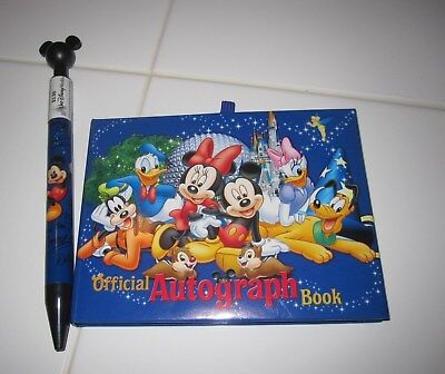 DISNEY Parks OFFICIAL AUTOGRAPH Book & Mickey Pen - New