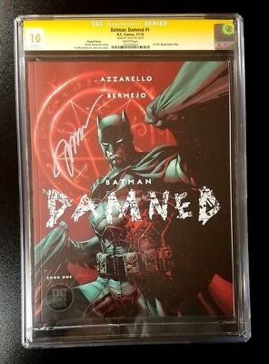 10 CGC SS Batman Damned #1 Variant Black Label Signed by Jim Lee DC Comics 2018