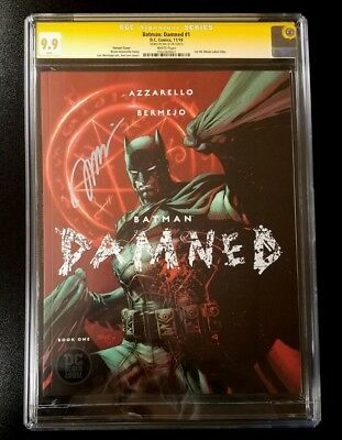 9.9 CGC SS Batman Damned #1 Variant Black Label Signed by Jim Lee DC Comics 2018