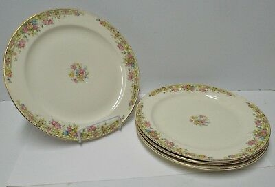 """4 Vintage Edwin M. Knowles China Co. """"Hostess"""" Dinner 10"""" Plate Dish"""