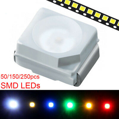 Ultra Bright Plcc-2 3528 1210 Smd Leds Surface Mount Smt 50/150/250Pcs Plcc2 New