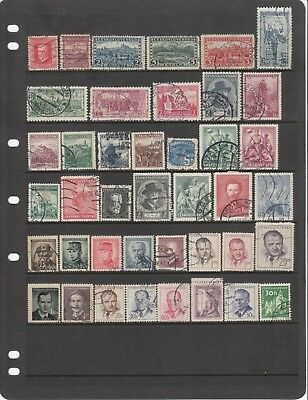 CZECHOSLOVAKIA Collect. Early Issues on Hagner Sheet USED #