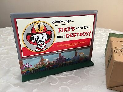 1999 Hallmark Kiddie Car Billboard Cinder Says Tin Sign Mint in Box Retired HTF