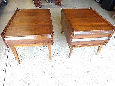 "Pair of Mid Century Modern ""Lane"" ""Scandia Collection"" End Tables w/ Danish Infl"