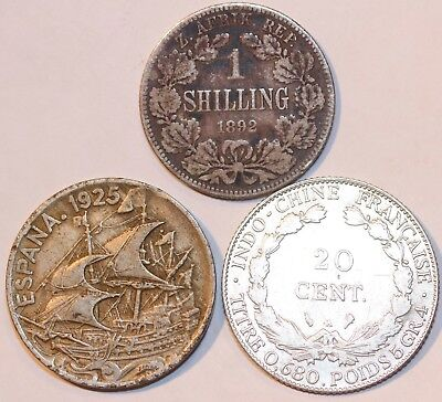 Foreign Silver Coin Lot of 3 Coins -                #FLDB139