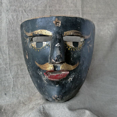 Vintage Mexican Dance Mask. Negrito Mask. Mexican Folk Art.