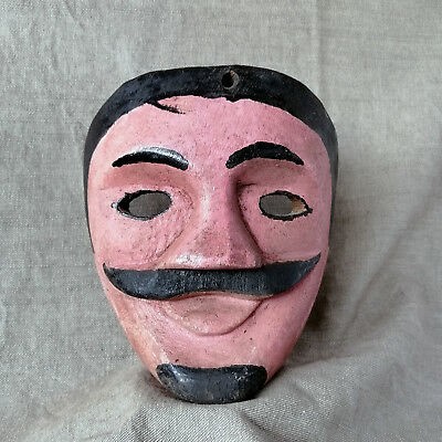 Old Moor Mask. Mexican Dance Mask. Mexican Folk Art.