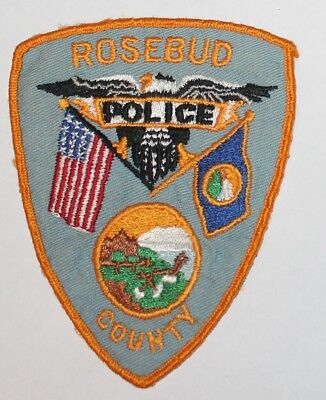 Old ROSEBUD COUNTY POLICE Montana MT PD Used Worn Vintage patch patch GB