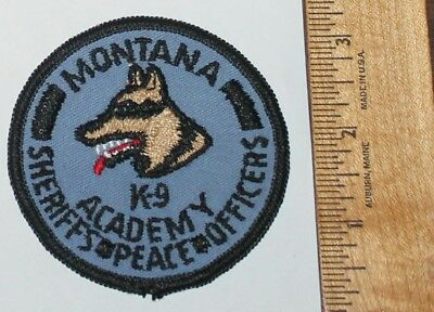 Very Old MONTANA K-9 ACADEMY Sheriffs Peace Officers MT Vintage patch GB