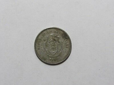 Seychelles Coin - 1982 25 Cents - Circulated, discolored, rim dings