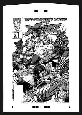 Greg Capullo X-Force #16 Rare Large Production Art Cover