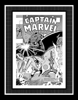 Barry Smith Captain Marvel #11 Rare Production Art Cover Monotone