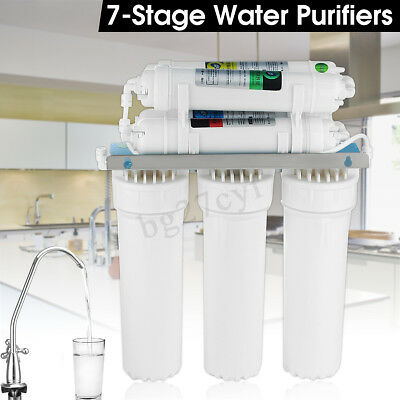 7 Stage Water Filters Drinking Ultra Filtration System Clean Purifier + Faucet