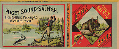 Salmon Can Label