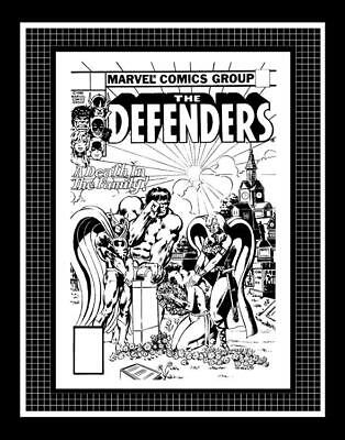 Mike Nasser Defenders #89 Rare Production Art Cover Monotone
